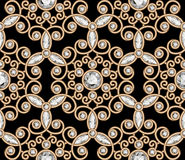 Gold jewelry diamond pattern Stock Photos