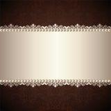 Gold jewelry frame Stock Photo