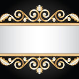 Gold jewelry frame Stock Photos