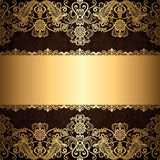 Gold jewelry frame Royalty Free Stock Image