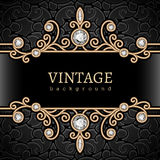 Gold jewelry frame Royalty Free Stock Photos