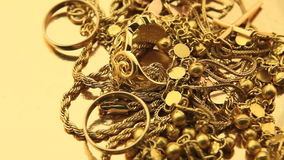 Gold jewelry stock video footage