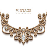 Gold jewelry necklace background Royalty Free Stock Image