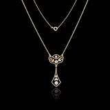 Gold jewelry necklace stock image