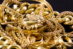 Gold Jewelry stock image