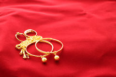 Gold jewelry ornament Stock Images