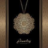 Gold jewelry pendant Stock Photo