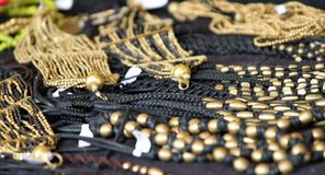 Gold jewelry and precious jewels for sale Stock Images