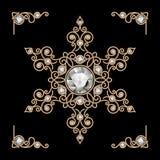 Gold jewelry snowflake Stock Photos