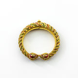 Gold jewelry thai ancient style. Stock Image
