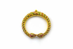 Gold jewelry thai ancient style. Royalty Free Stock Photos
