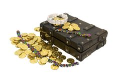 Gold and jewelry treasure Royalty Free Stock Photos