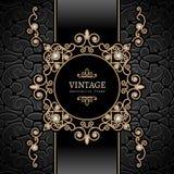 Gold jewelry vignette Stock Photos