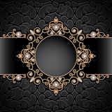 Gold jewelry vignette Royalty Free Stock Images