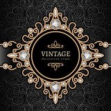 Gold jewelry vignette Royalty Free Stock Image
