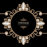Gold jewelry vignette Royalty Free Stock Photo