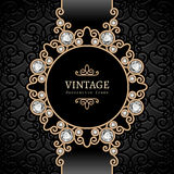 Gold jewelry vignette Stock Photo