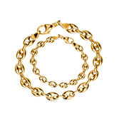 Gold jewelry. On white background royalty free stock image