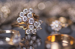 Gold jewelry. Royalty Free Stock Photo