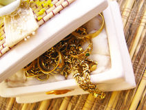 Gold jewels Stock Photography