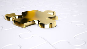 Gold jigsaw Royalty Free Stock Photos