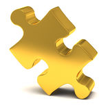 Gold Jigsaw Piece Royalty Free Stock Photo