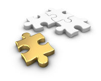 Gold Jigsaw Puzzle Royalty Free Stock Photography