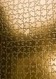 Gold jigsaws Stock Photos
