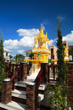 Gold joss house against blue sky Royalty Free Stock Images