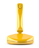 Gold joystick Stock Photo