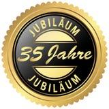 gold jubilee seal vector illustration