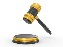 Gold judge gavel Royalty Free Stock Images