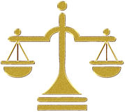 Gold justice balance Royalty Free Stock Photo