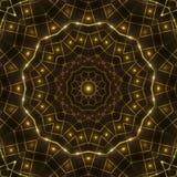 Gold kaleidoscope light, dark abstract background. Dark abstract background, gold kaleidoscope light Stock Image