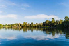 Gold Kanal. Place for resting and fishing with friends nice landscape Stock Images