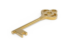 Gold key Royalty Free Stock Photo