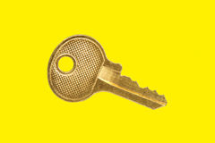 Gold Key Royalty Free Stock Image