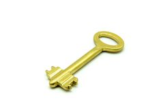 Gold key Royalty Free Stock Photography