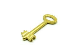 Gold key Royalty Free Stock Photography