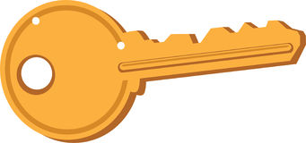 Gold key Stock Photo