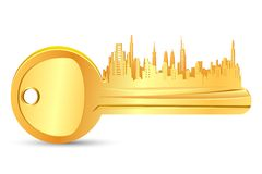 Gold Key House Royalty Free Stock Image