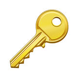 Gold key. Vector illustration of gold key Royalty Free Stock Photography