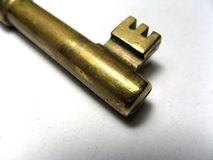 Gold Key Royalty Free Stock Image