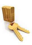 Gold keys Stock Image