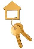 Gold keys Stock Photography