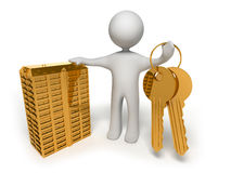 Gold keys Stock Images
