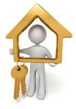 Gold keys vector illustration