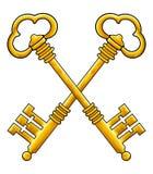 Gold keys vector royalty free illustration