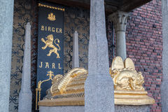 Gold King Coffin Stockholm Sweden Stock Image