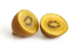 Gold kiwi fruit. On a white background Stock Image